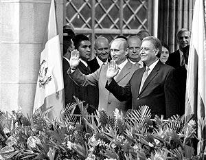Президент России Владимир Путин и президент Гватемалы Оскар Бержер