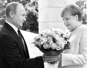 Путин и Меркель встречаются уже тринадцатый год