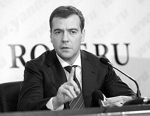 Первый вице-премьер российского правительства Дмитрий Медведев