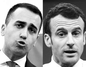 Конфликт Луиджи Ди Майо с Эммануэлем Макроном еще далек от финишной стадии