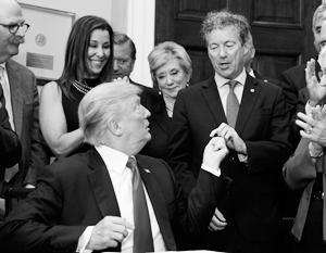Дональд Трамп с сенатором Рэндом Полом