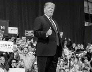 Трамп ведет непрерывную предвыборную кампанию