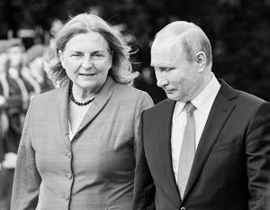 В начале июня Карин Кнайсль пригласила на свою свадьбу Владимира Путина