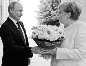 Встреча Путина и Меркель стала долгожданным проявлением нормальной международной политики