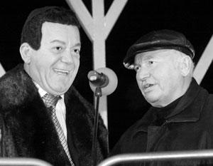 Кобзон не побоялся поддержать Лужкова во время его опалы. Просто из дружеских чувств