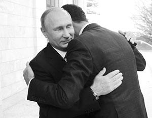 Владимир Путин и Башар Асад за последние три года встречались пять раз