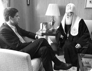 Помощник госсекретаря США Уэсс Митчелл и украинский раскольник Филарет-Денисенко