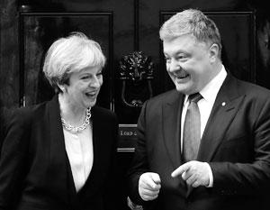 Мэй и Порошенко говорили о России практически одними и теми же словами