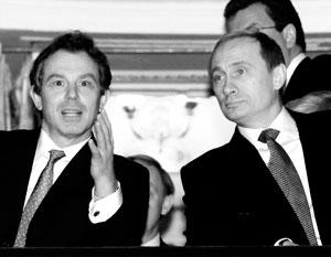 Тони Блэр и Владимир Путин в Мариинском театре