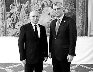 Хашим Тачи впервые, хоть и кратко, встретился с Владимиром Путиным