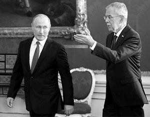 Владимир Путин в гостях у Александра Ван дер Беллена