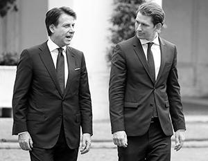 Итальянец Сальвини и австриец Курц оспаривают роль «главы самого пророссийского правительства ЕС»