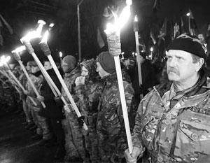Факельный марш украинских националистов