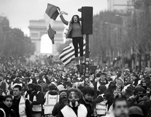 Протесты охватили не только Париж, но даже самые далекие уголки Франции