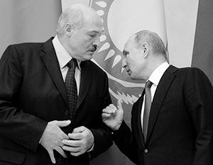 Александр Лукашенко с Владимиром Путиным на заседании ЕАЭС в Санкт-Петербурге