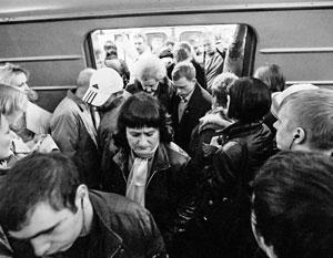 Столичное метро явно не справляется с потоком пассажиров