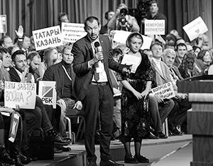 Украинский журналист Роман Цымбалюк который уже раз задает вопрос Владимиру Путину – и который раз получает ответ, который явно не ожидает