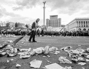 Один из национальных украинских мифов – Майдан – был отмечен грандиозным количеством мусора