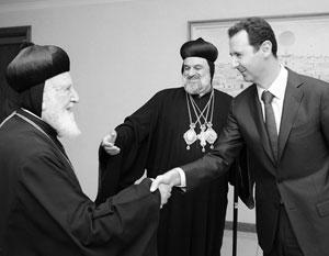 Мы видим попытки разделения православной церкви и на нашей земле, пожаловался Башар Асад