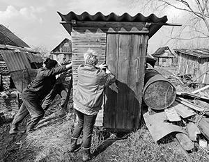 Для российских деревень данный вариант туалета является самым распространенным