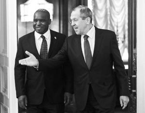 Министр Лавров на встрече с коллегой из Сьерра-Леоне