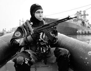 Бойцы ПДСС специально обучены для противодействия морским диверсантам противника