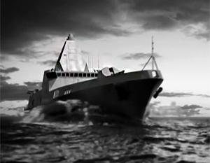 Одно из возможных изображений перспективного эсминца проекта 22350М