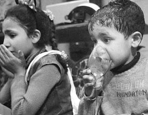 «Белые каски» запугали детей Думы криками о химической атаке, так что эмоции им удалось заснять подлинные