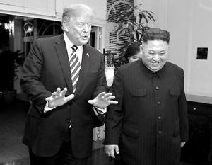 Несмотря на отсутствие договоренностей, Трамп и Ким довольны встречей