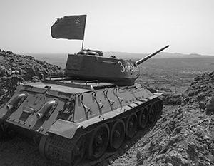 Советский танк, оставшийся около Голанских высот со времен войны 1967 года, был недавно найден в Сирии