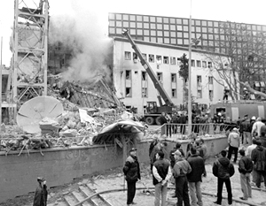 Разрушенные бомбардировками НАТО здания до сих пор можно увидеть в центре Белграда