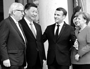 Эммануэль Макрон позвал на встречу с Си Цзиньпином Ангелу Меркель и Жан-Клода Юнкера