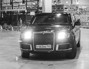 Владимир Путин на отечественном лимузине Aurus заехал прямо на территорию немецкого завода