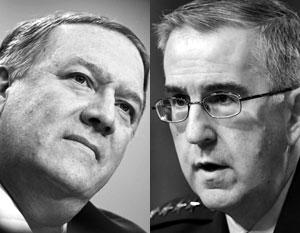 Госсекретарь Помпео (слева) и генерал Хайтен олицетворяют принципиально разные подходы к СНВ в американской элите