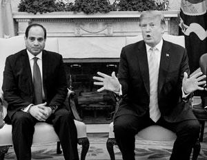 Президент Сиси в гостях у Дональда Трампа