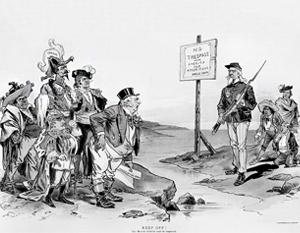 В конце 19 века США тоже изображали себя защитником латиноамериканцев от иностранных захватчиков