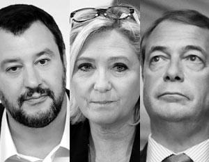 Маттео Сальвини, Марин Ле Пен и Найджел Фарадж становятся новыми лицами Европы
