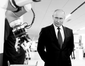 Виртуальная ведущая Елена, судя по всему, уже научилась узнавать Путина в лицо