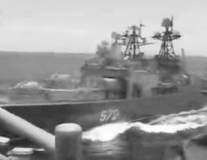 Американский крейсер и наш БПК сошлись на расстояние в 50 метров