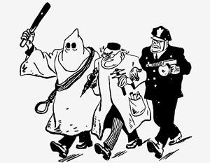 Карикатура на советских генетиков