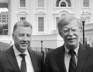 Джон Болтон с Куртом Волкером, спецпредставителем Госдепартамента США по вопросам Украины