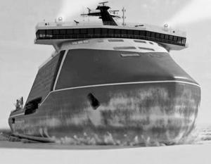 Проектное изображение перспективного ледокола «Лидер»