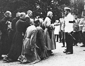 Император Николай Второй принимает грузинскую делегацию в 1912 году