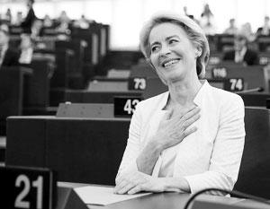 Урсула фон дер Ляйен после объявления итогов голосования