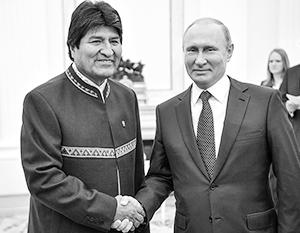 Россия очень заинтересована в поддержке действующего президента Боливии
