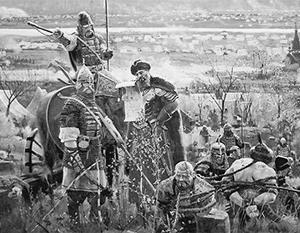 Фото: «Великое стояние на реке Угре», П.В. Рыженко
