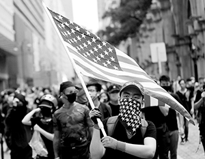 На демонстрации в Гонконге в начале августа