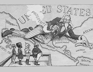 Так изображали американские территориальные приобретения в конце 19 века