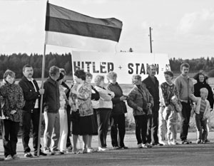 В «Балтийском пути» приняли участие четверть населения Латвии, Литвы и Эстонии