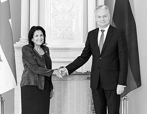 В хронически антироссийской Литве хронически антироссийская Грузия получила только моральную поддержку